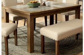 Melston I Stone Rectangular Leg Dining Table