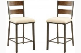 Jazlyn II Weathered Oak Counter Height Chair Set Of 2