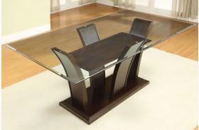 Manhattan I Dark Cherry Pedestal Dining Table
