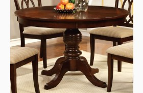 Carlisle Brown Cherry Round Pedestal Dining Table