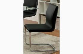 Lodia I Black Leatherette Side Chair Set of 2