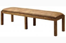 Gianna Rustic Pine Bench