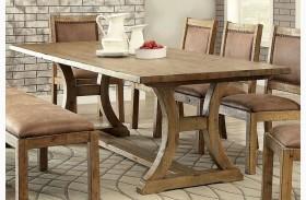 Gianna Rustic Pine Extendable Rectangular Dining Table