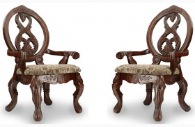 Tuscany II Antique Cherry Arm Chair Set of 2
