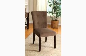 Havana Espresso Upholstered Side Chair Set of 2