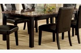 Boulder I Black Faux Marble Top Rectangular Leg Dining Table