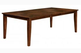 Hillsview I Brown Cherry Rectangular Extendable Leg Dining Table