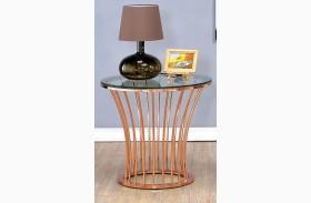 Celise Rose Gold End Table