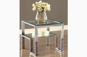 Nikita Chrome End Table