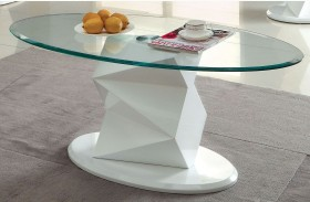 Halawa V White Coffee Table