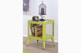 Kidder Apple Green End Table