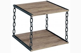 Cheyanne Black and Silver End Table