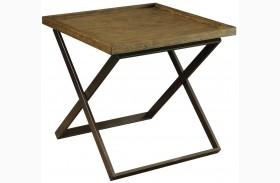 Mina Medium Weathered Oak End Table