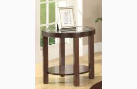 Crystal Cove II Glass-Insert Round End Table