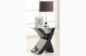 Xtres Black End Table