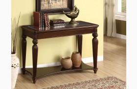 Windsor Glass-Insert Sofa Table
