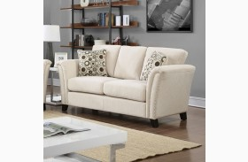 Campbell Ivory Loveseat