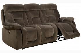 Bloomington Brown Power Reclining Sofa