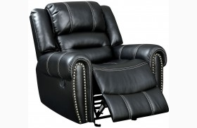 Frederick Black Reclining Chair