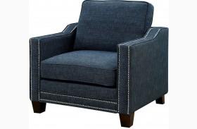 Kerian Blue Chenille Chair