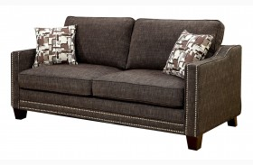 Kerian Brown Chenille Sofa