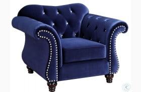 Jolanda Blue Flannelette Fabric Chair