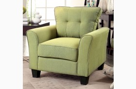 Claire Green Fabric Chair