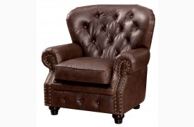 Stanford Brown Leatherette Chair