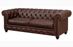 Stanford Brown Leatherette Sofa