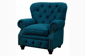 Stanford Dark Teal Fabric Chair