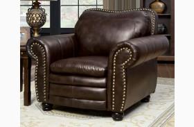Benedict Dark Brown Leatherette Chair
