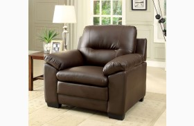 Parma Brown Leatherette Chair