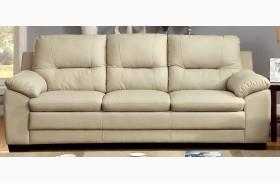 Parma Ivory Leatherette Sofa