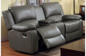 Sarles Gray Reclining Console Loveseat