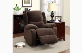 Haven Dark Brown Flannelette Recliner