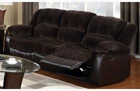 Winslow Rustic Brown Reclining Sofa