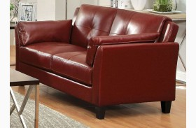 Pierre Red Loveseat