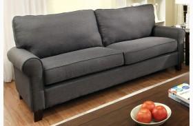Hensel Gray Flax Fabric Sofa