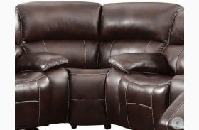 Ruth Brown Leather Reclining Corner Chair