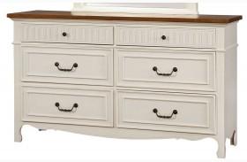 Galesburg White and Oak Dresser