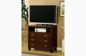 Enrico I Brown Cherry Media Chest