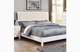 Enrico I White Full Upholstered Bed