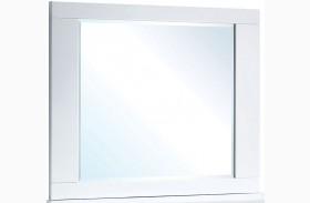 Clementine Smooth White Mirror