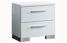 Clementine Smooth White Nightstand