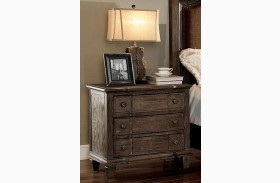 Halliday Wired Brushed Gray Nightstand