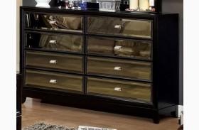 Golva Black 6 Drawer Dresser