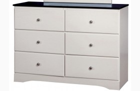 Kimmel White and Blue Dresser