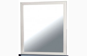 Kimmel White and Blue Mirror