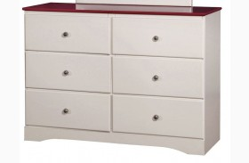 Kimmel Pink And White Dresser