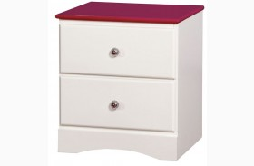 Kimmel Pink And White Nightstand